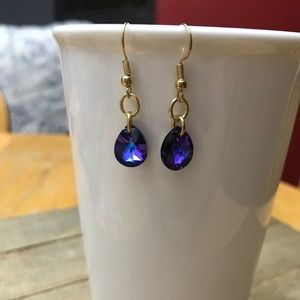 3 for $25 Handmade Blue Swarovski Crystal Earrings